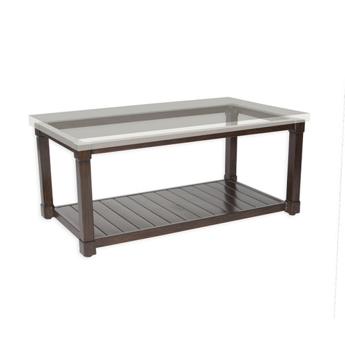 """17"""" Inspired Visions Classic Storage Coffee Table Base 3 - 1"""