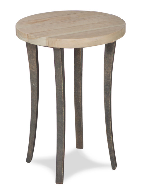 """17"""" Inspired Visions Teak Wood Accent Table - 1"""
