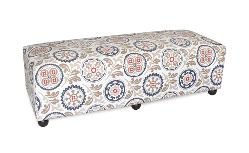 """19"""" Inspired Visions Upholstered Accent Bench in Province  - 1"""