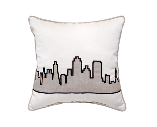 Inspired Visions Building Applique Embroidery Pillow - 1