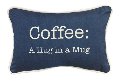 Inspired Visions Coffee A Hug In A Mug Embroidery Pillow - 1