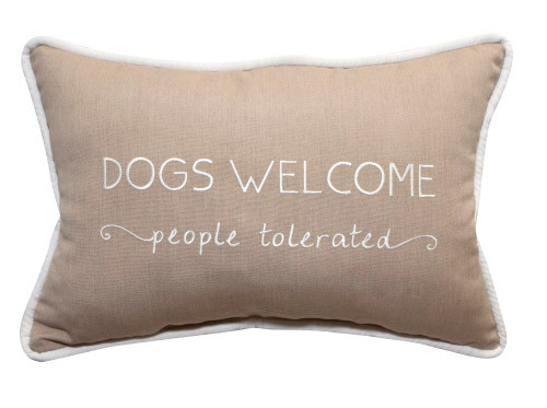 Peak Season Dogs Welcome People Tolerated Embroidery Pillow - 1