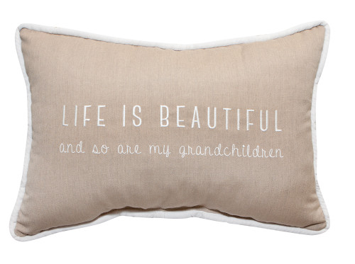 Peak Season Life Is Beautiful and So Are My Grandchildren Embroidery Pillow - 1