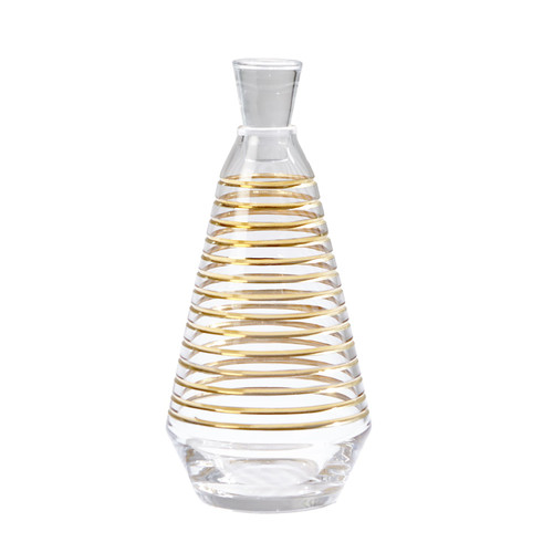 Global Views Gold Banded Decanter - 1