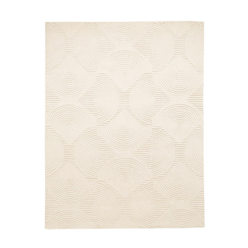 """108"""" x 144"""" Global Views Arches Rug - Ivory/Ivory - 1"""