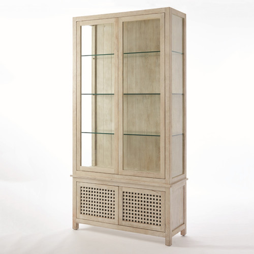 "94"" Global Views Driftwood Vitrine China Cabinet - 1"