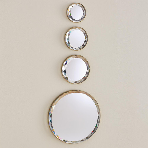 Global Views Banded Crystal Wall Decor - Brass - Large - 1
