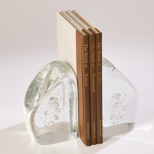 Global Views Chunk Bookends - Clear with Bubbles - 1