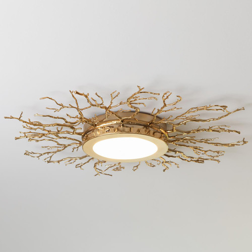 Global Views Twig Ceiling Fixture - Brass - 1