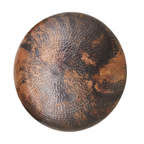 Global Views Burnt Copper Wall Disc Panel - Large - 1