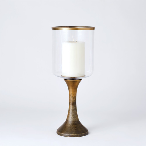 Global Views Ombre Hurricane Candle Holder - Bronze/Gold - Small - 1