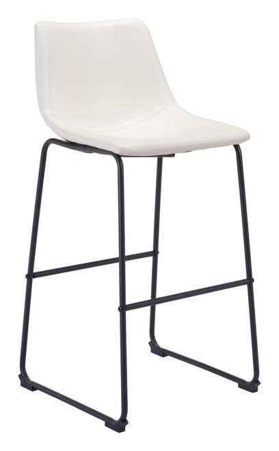 """39"""" Zuo Smart Steel Bar Chair - Distressed White - 1"""