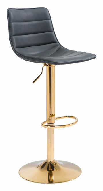 """43"""" Zuo Prima Steel Bar Chair - Black and Gold - 1"""