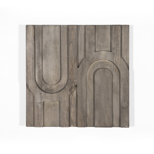 """24"""" x 24"""" Four Hands Rivka Arch Wall Tile - Aged Grey - 1"""