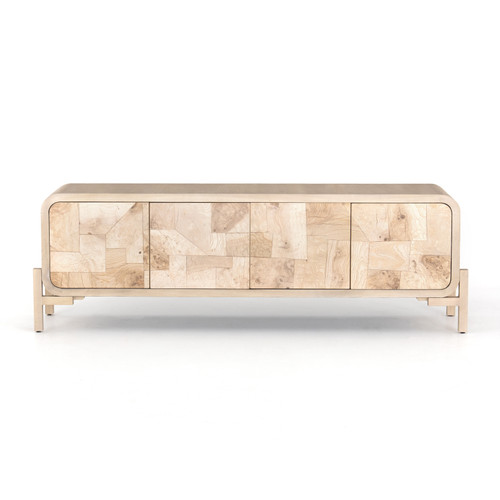"""25"""" Four Hands Wiley Media Console Cabinet - Bleached Burl - 1"""