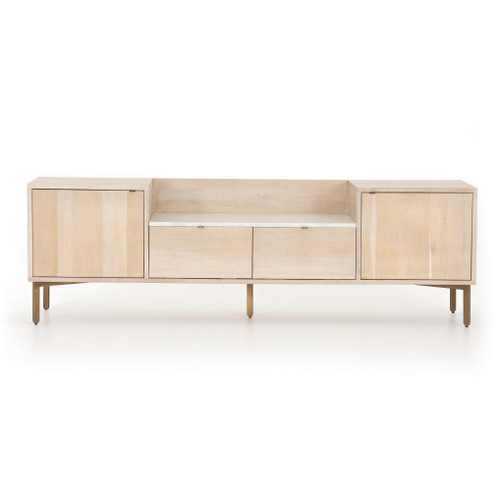 """26"""" Four Hands Bianca Media Console Cabinet - Pale Washed Oak - 1"""