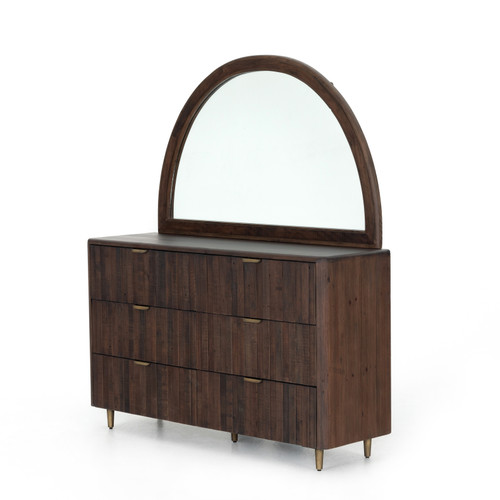 Four Hands Lineo 6 Drawer Dresser With Mirror - Rustic - 1