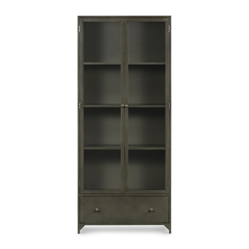 """35"""" Four Hands Shadow Box Display Cabinet - 1"""