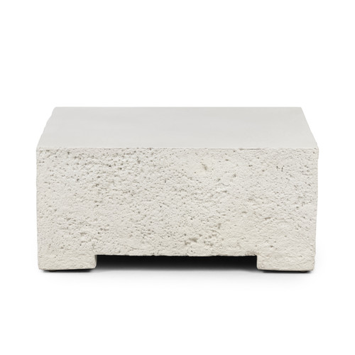 "14"" Four Hands Otero Outdoor Small Coffee Table -Base - White - 1"