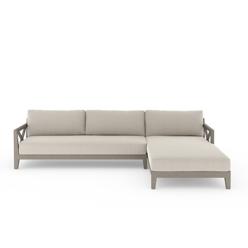 2-Piece Four Hands Huntington Outdoor Sectional - Weathered Grey 6 - 1