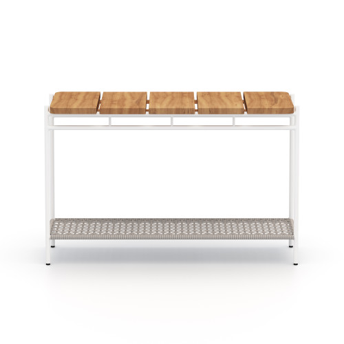 """32"""" Four Hands Aroba Outdoor Console Table - Natural Teak - 1"""