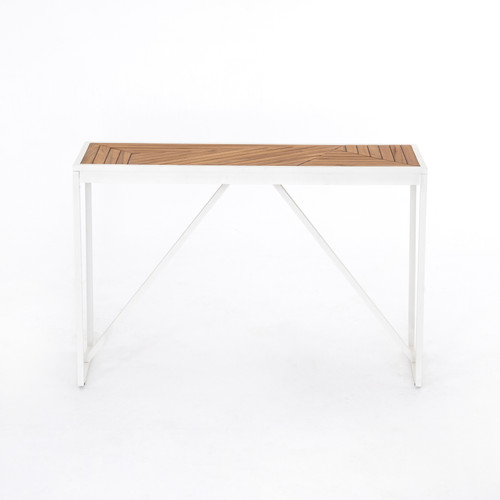 """30"""" Four Hands Maeve Outdoor Console Table - Natural Teak - 1"""