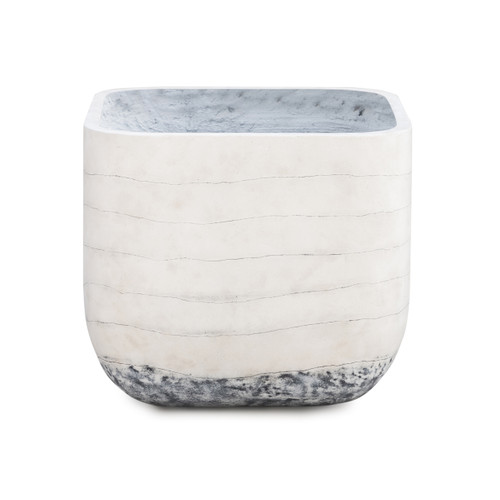 Four Hands Ingall Square Planter - Grey Ombre - 1