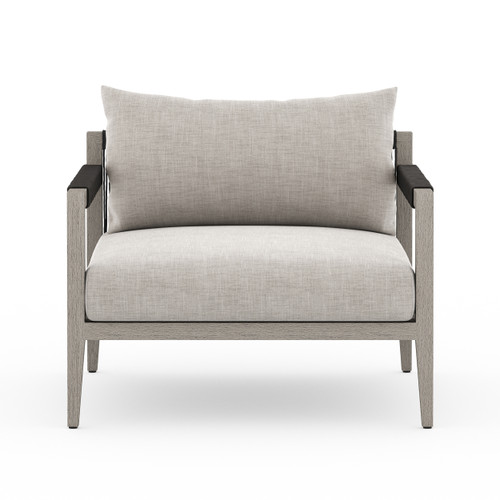 """25"""" Four Hands Sherwood Outdoor Chair - Weathered Grey - 1"""