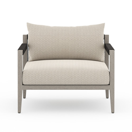 """25"""" Four Hands Sherwood Outdoor Chair - Weathered Grey 1 - 1"""