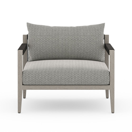"""25"""" Four Hands Sherwood Outdoor Chair - Weathered Grey 2 - 1"""