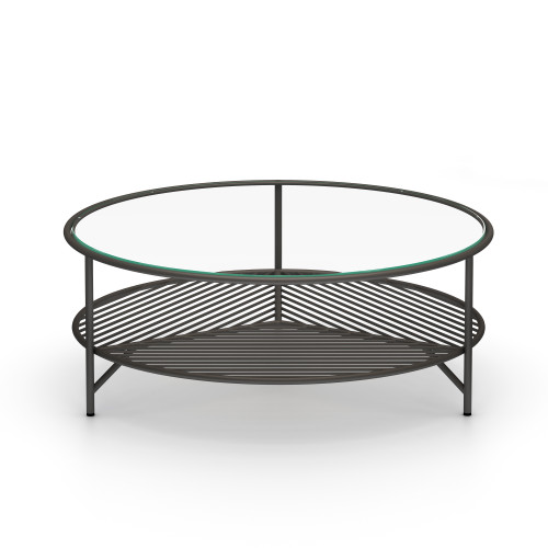 "15"" Four Hands Dali Outdoor Coffee Table - Bronze - 1"
