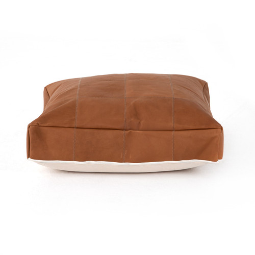 Four Hands Sandro Leather Floor Cushion - Whiskey - 1