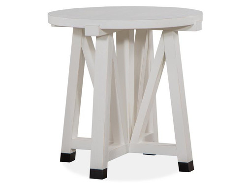 """28"""" Magnussen Harper Springs Round Accent End Table - 1"""
