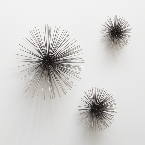 Boom Wall Sculpture-Nickel-Lg