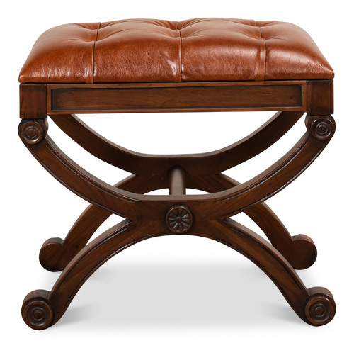 Empire Stool With Leather