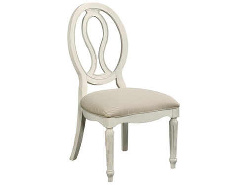 "42"" Universal Furniture Summer Hill Pierced Back Side Chair - 1"