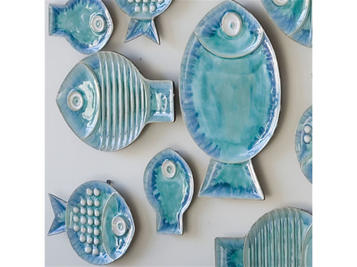 Blue Fish Plate-Med
