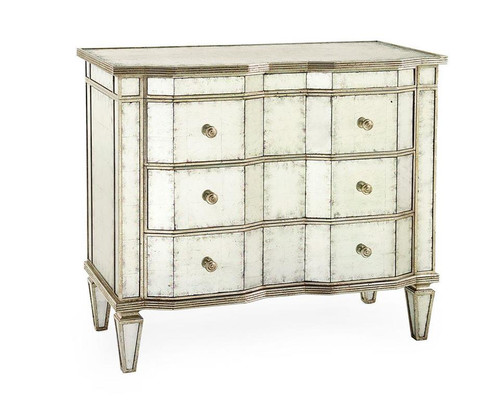 """40"""" John Richard glomis Three-Drawer Chest with Silver-Leaf Molding - 1"""