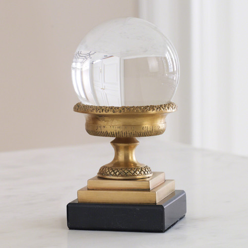 Petite Brass Urn On Marble Base
