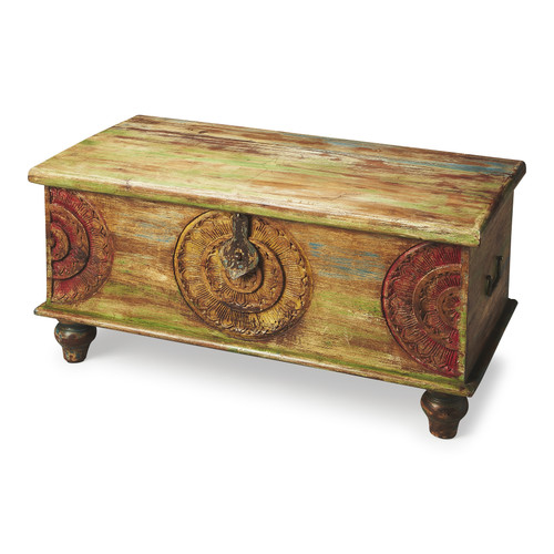 "18"" Butler Artifacts Trunk Coffee Table - 1"
