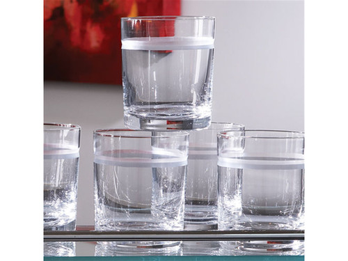 S/6 Double Old Fashion 1 Band Drinking Glasses