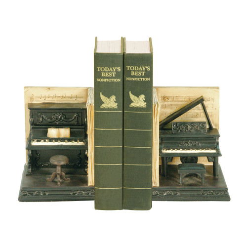 """9"""" ELK Home PAIR DUELING PIANO BOOKENDS, Traditional - 1"""