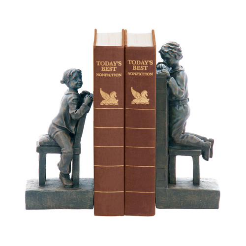 """10"""" ELK Home PAIR PEEK A BOO BOOKENDS, Traditional - 1"""