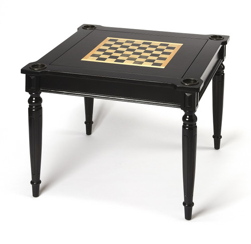 Vincent Black Licorice Multi-Game Card Table