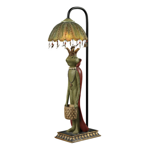 """21"""" ELK Home King Frog with Basket Accent Lamp, Traditional - 1"""