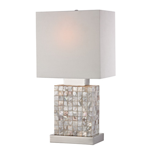 """17"""" ELK Home Mini Mother of Pearl Accent Lamp, Transitional - 1"""