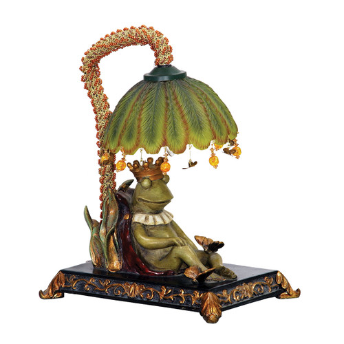 """12"""" ELK Home Sleeping King Frog Accent Lamp, Traditional - 1"""