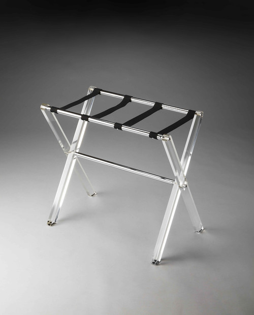 Crystal Clear Acrylic Luggage Rack