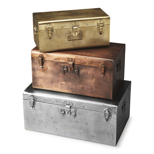 Set of 3 Butler Hors D'oeuvres Storage Trunk - 1