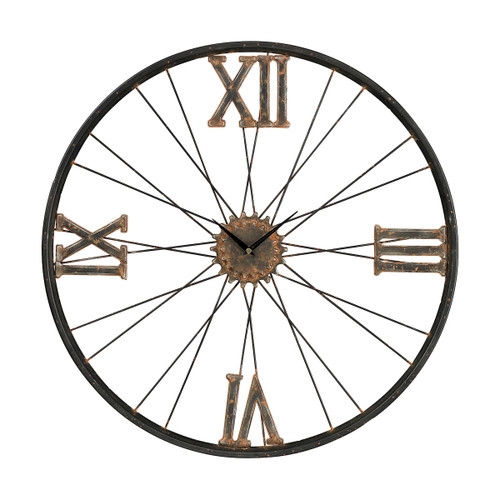 "24"" ELK Home IRON WALL CLOCK, Traditional - 1"